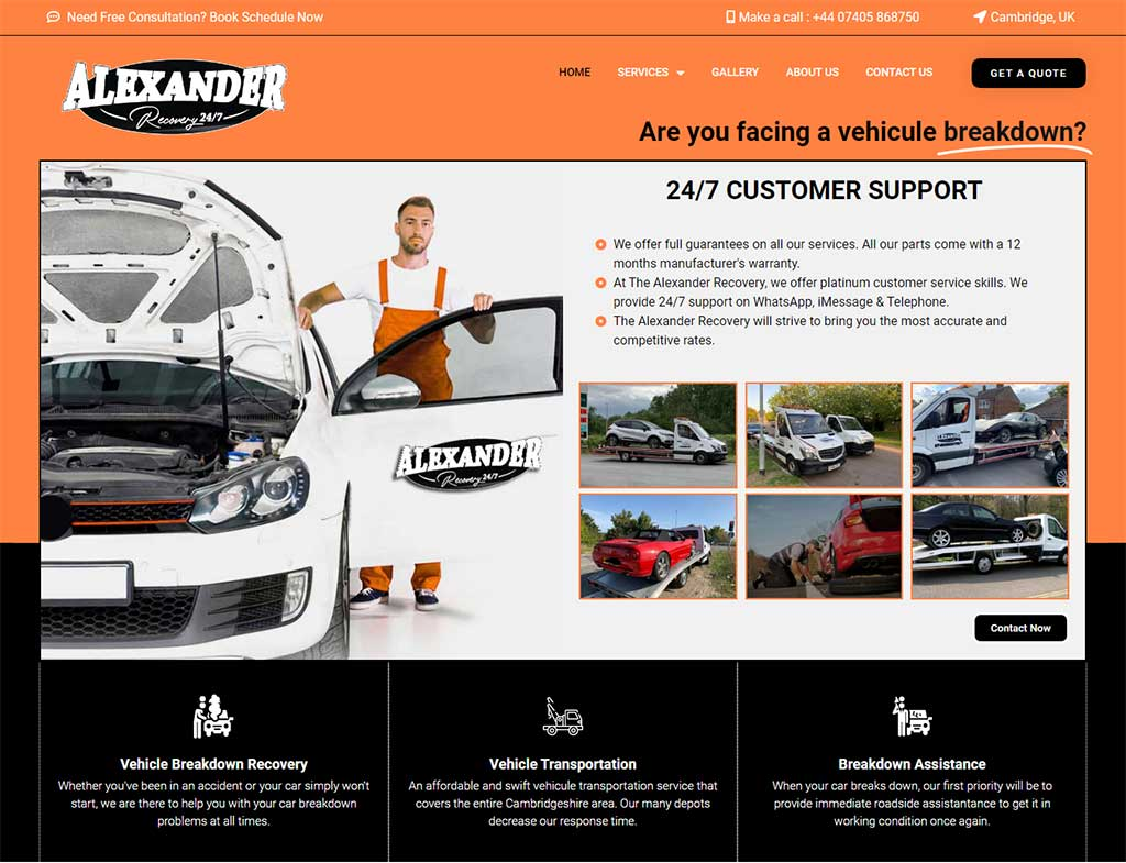 New website launch – Alexander Recovery