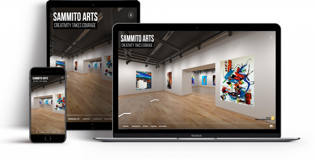 Magical Virtual Gallery Tour for artist