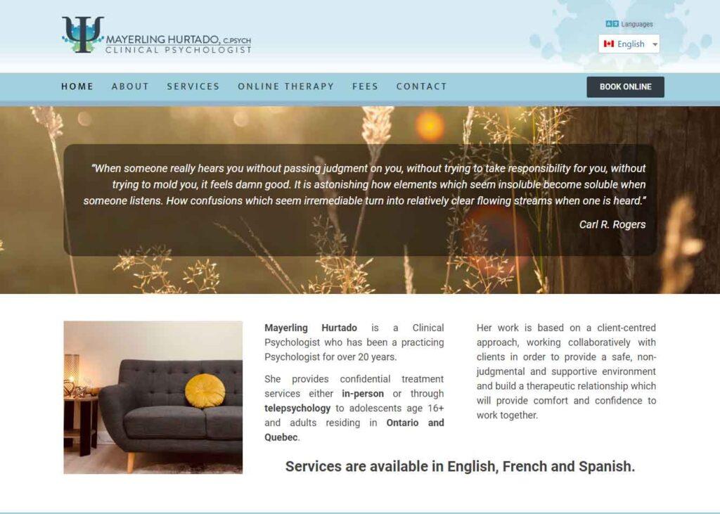 New website launch - hurtadopsychologist.com