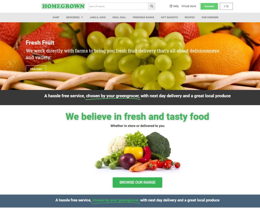 Homegrow - Virtual Tour ecommerce