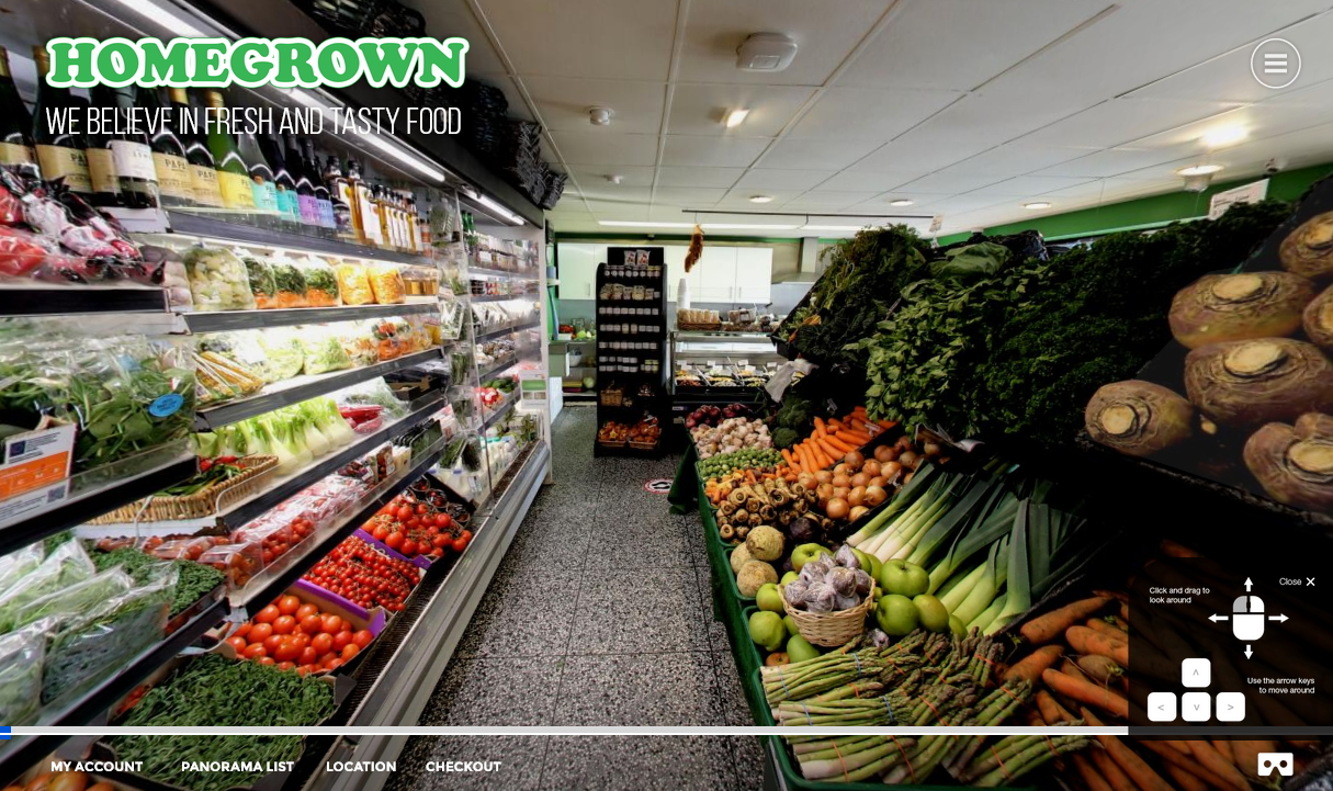 Virtual Tour Ecommerce for Homegrown